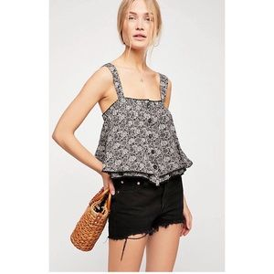 Free People | ⚡️NWT Floral Print Tank Top | Size M